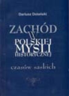Zachód w polskiej myśli historycznej czasów saskich: nurt sarmacko-teologiczny
