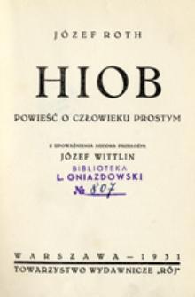 Hiob: powieść o człowieku prostym