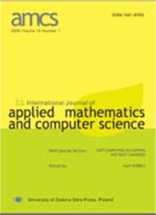 International Journal of Applied Mathematics and Computer Science (AMCS) 2010 Volume 20 Number 2