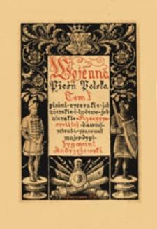 Pieśni rycerskie, żołnierskie i ludowo-żołnierskie z okresu Rzplitej dawnej (w. XII-XVII)