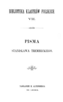 Pisma Stanisława Trembeckiego, T. 2