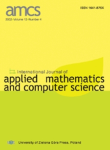 International Journal of Applied Mathematics and Computer Science (AMCS) 2002 Volume 12 Number 4