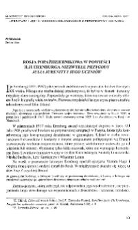 """Rosja popaździernikowa w powieści Ilji Erenburga """"Niezwykłe przygody Julia Jurenity i jego uczniów"""""""