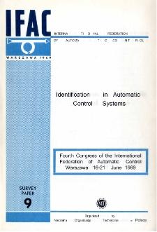 Identification in Automatic. Control Systems = Identyfikacja i planowanie eksperymentów (9)