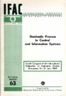 Stochastic Process in Control and Information Systems = Procesy stochastyczne w układach i systemach informacyjnych (63)