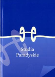 Studia Paradyskie, t. 24