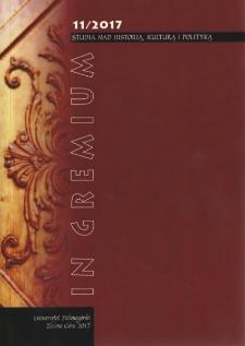 In Gremium : studia nad historią, kulturą i polityką, tom 11