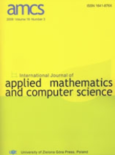 International Journal of Applied Mathematics and Computer Science (AMCS) 2006 Volume 16 Number 3