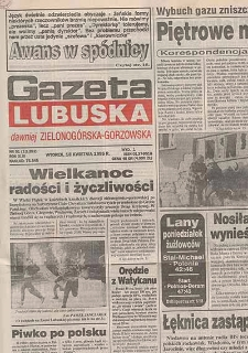 Gazeta Lubuska : dawniej Zielonogórska-Gorzowska R. XLIII [właśc. XLIV], nr 34 (9 lutego 1995). - Wyd. 1