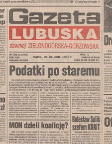 Gazeta Lubuska : dawniej Zielonogórska-Gorzowska R. XLIII [właśc. XLIV], nr 152 (3 lipca 1995). - Wyd. 1