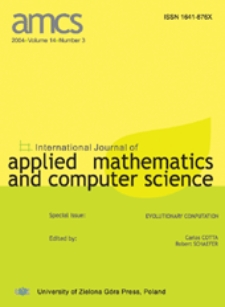 International Journal of Applied Mathematics and Computer Science (AMCS) 2005 Volume 15 Number 3