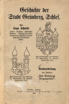 Geschichte der Stadt Grünberg, Schles[ien]